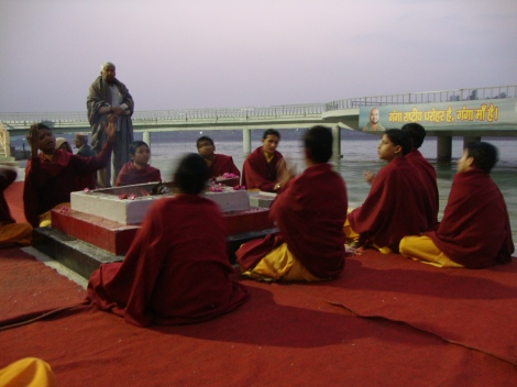 Religious ceremony on the Ganges
